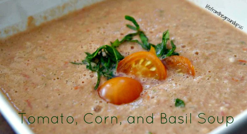 Tomato, Corn, and Basil Soup - lifefromthegroundup.us