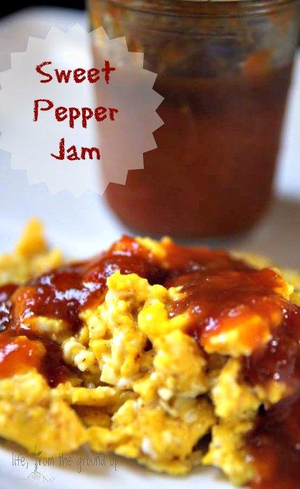 Savory and Sweet Pepper Jam - lifefromthegroundup.us